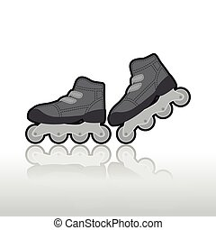Roller skates, isolated illustration