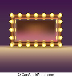 Makeup mirror with lamps