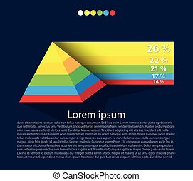 Balda_Temp - Pyramid graph, infographics elements Vector