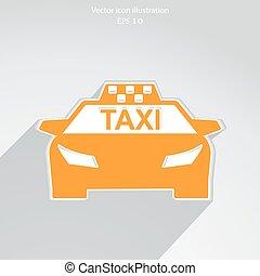 taxi,  vector, icono