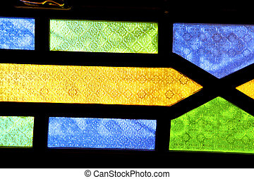 colorated un in morocco and light - colorated glass and sun...