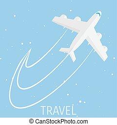 mundo, viaje, concepto, Ilustración