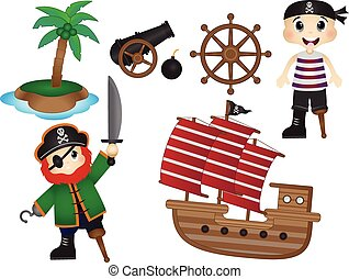 Pirate Equipment Vector
