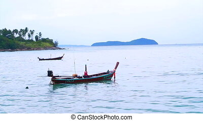Fishing Boat Coast of Phuket sea - Fishing Boat off the...