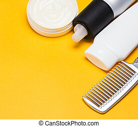 Hair styling products with a comb