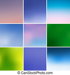 Group of multicolored backgrounds, vector illustration...