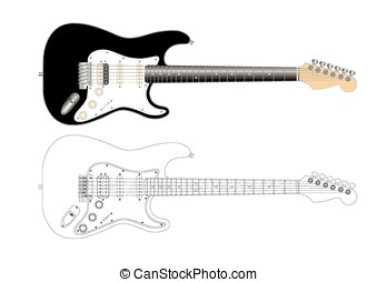 electric guitar - vector illustration of an electric guitar...