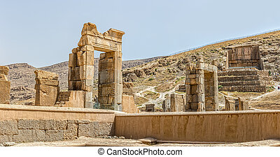 Persepolis ruins - Ruins of old city Persepolis, a capital...