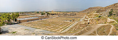 Persepolis panorama - Ruins of old city Persepolis, a...