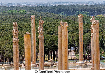 Persepolis ancient pillars - Ancient pillars of the old...