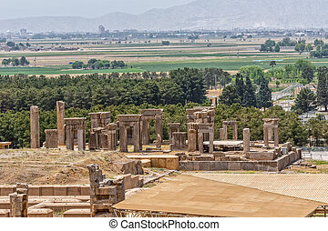Persepolis ancient ruins - Ruins of old city Persepolis, a...