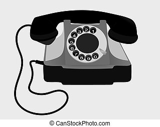 Old Phone. Vector. EPS10. - Old Retro Phone. Vector. EPS10....