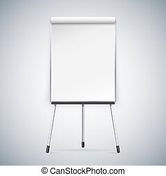 Office Flipchart Clipping paths included in JPG file
