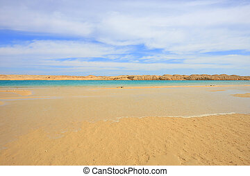 Ras Mohamed National park - Lake and sand in Ras Mohamed...