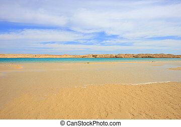 Ras Mohamed National park - Lake and sand in Ras Mohamed...