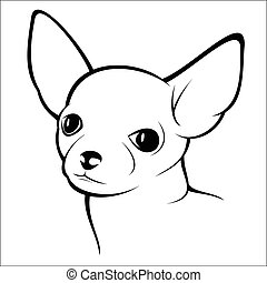 Chihuahua - Vector illustration - Chihuahua on a white...