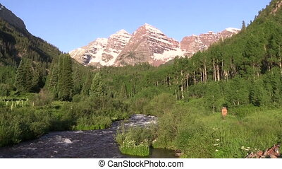 Maroon Bells Summer Scenic - the scenic landscape of the...