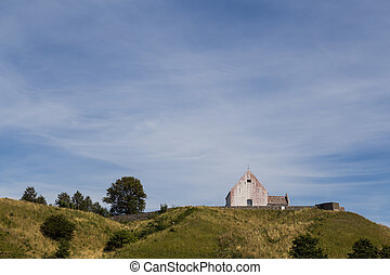 Small church on a hill - Photograph of a small church on a...