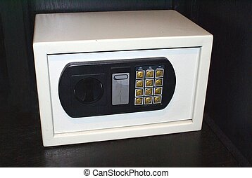 safe deposit box - safe with keypad combination. security...