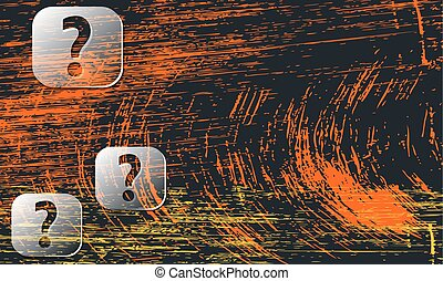 abstract background with scratches and transparent question marks