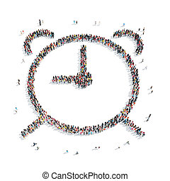 group people shape watch - A group of people in the shape of...