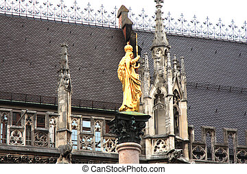 The Mariensäule is a Marian column located on the...