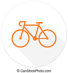 bicycle flat design modern icon with long shadow for web and...