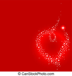Stardust heart - Vector illustration of shooting star making...