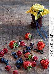 Preparing Berries Marmelade