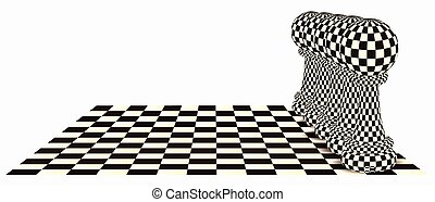 Abstract background with a chess pawn, vector illustration