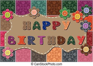 happy birthday dedication decor card with flowers