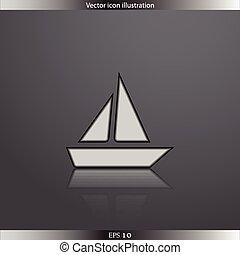 Vector ship web flat icon Flat design