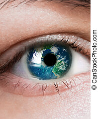 planet is in the eye