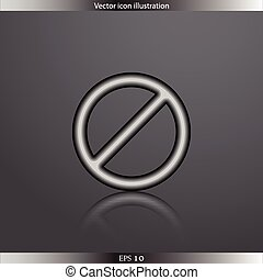 Vector not allowed sign web icon