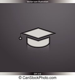 Vector academic cap web icon