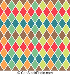 vector seamless geometric pattern with colorful rombs. EPS