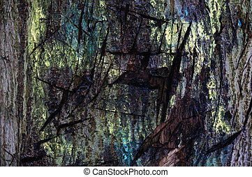Scratched Tree Bark Neon Pint - Scratched Tree Bark Neon...