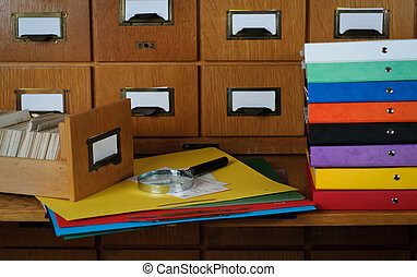 Search Concept in Library Stock Photo