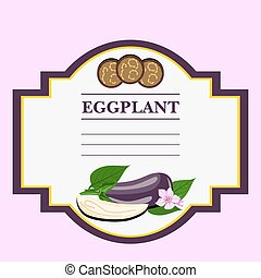 Eggplant Label, there is a place for your text