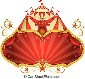Magic circus big top - A circus frame with a big top and a...