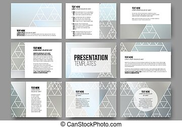 Set of 9 templates for presentation slides Minimalistic...
