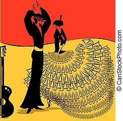 image of flamenko dance