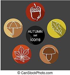 set autumn icons