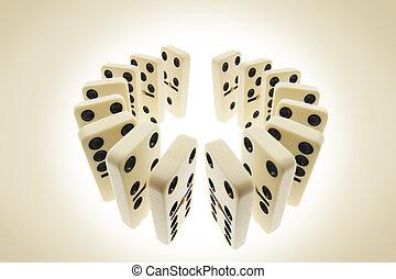 Dominoes - Arrangement Dominoes