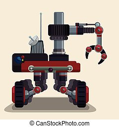 Robot digital design. - Robot digital design, vector...