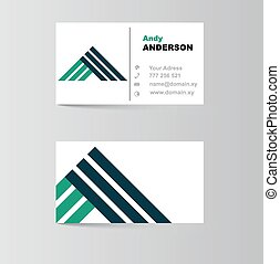 business card for letter A