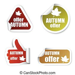 set stickers autumn offer