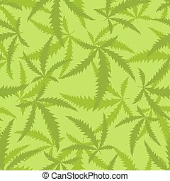 Marijuana is a seamless pattern. Background of narcotic plant.