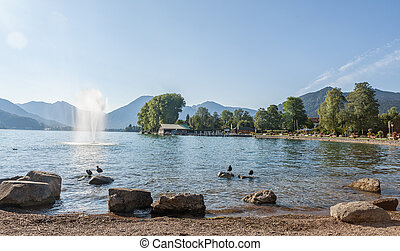 Bad Wiessee at Lake Tegernsee