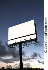 Blank billboard - A blank billboard with a dramatic sunset...